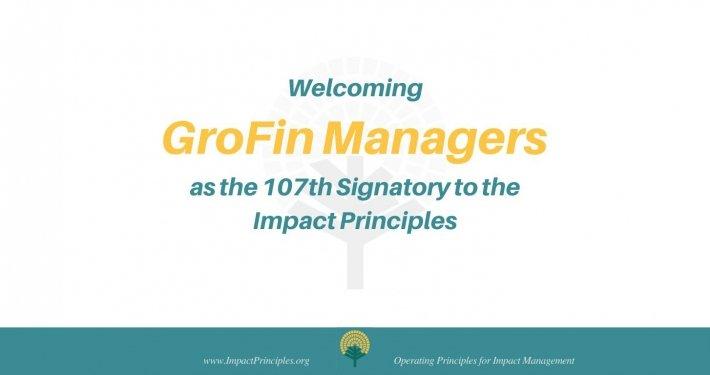 GroFin Signatory to IFC Impact Principles
